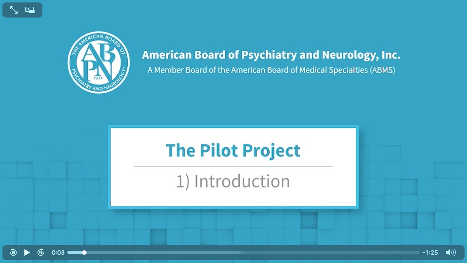 American Board of Psychiatry and Neurology Instructions and Videos