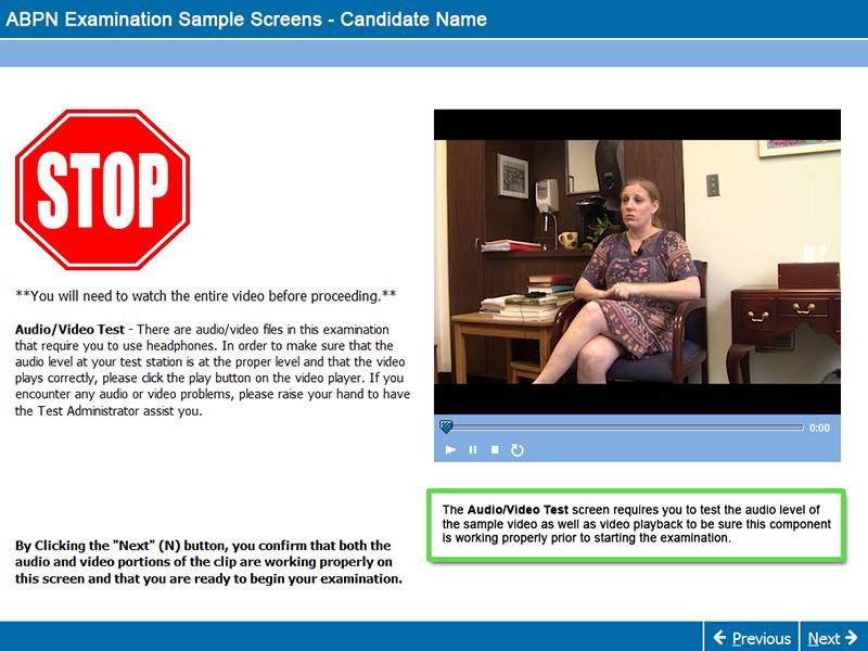 Audio Video Test Screen MOC