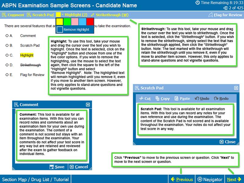 Basic Functions Screen 1