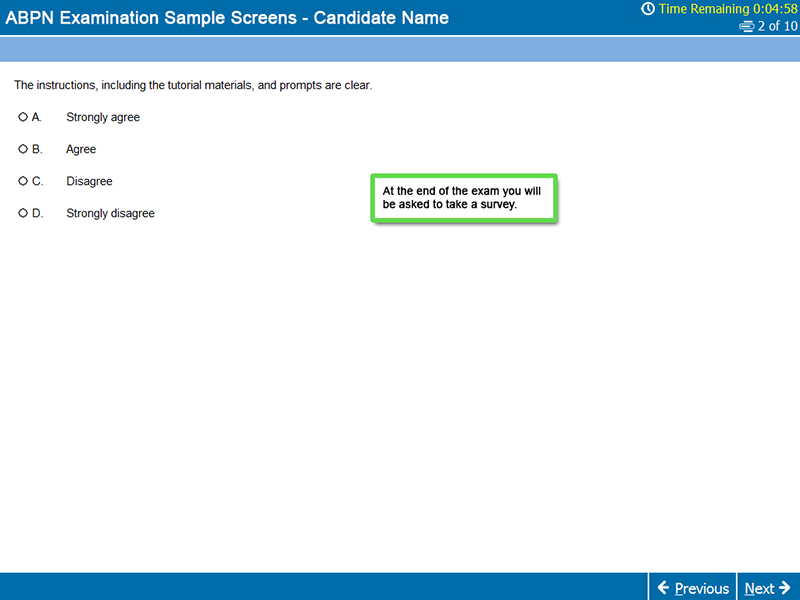 Survey Screen